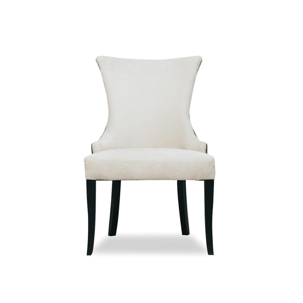 Allegra Dining Chair Custom Upholstered Designer Fabric 1