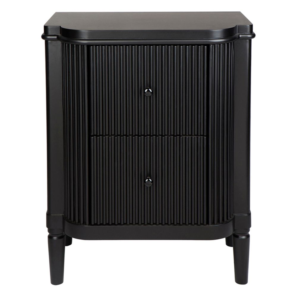 Arielle Black Bedside Table Draw 1