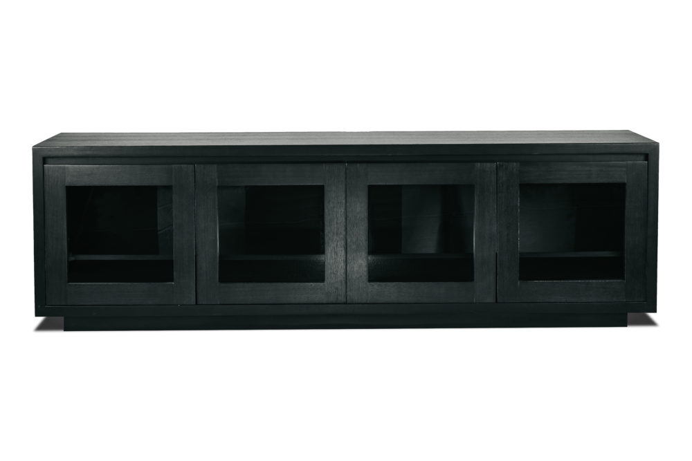 Austin Glass TV Entertainment Unit Storage Custom Size Timber 1