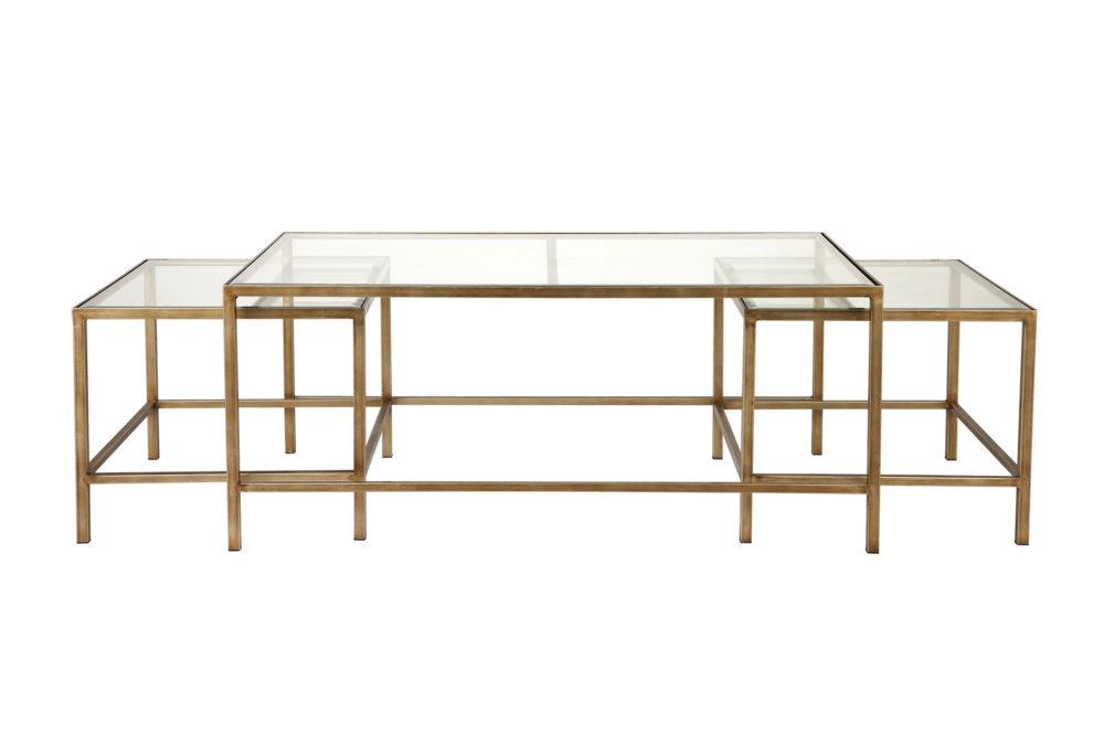 Bella Glass Nesting Coffee Table 1