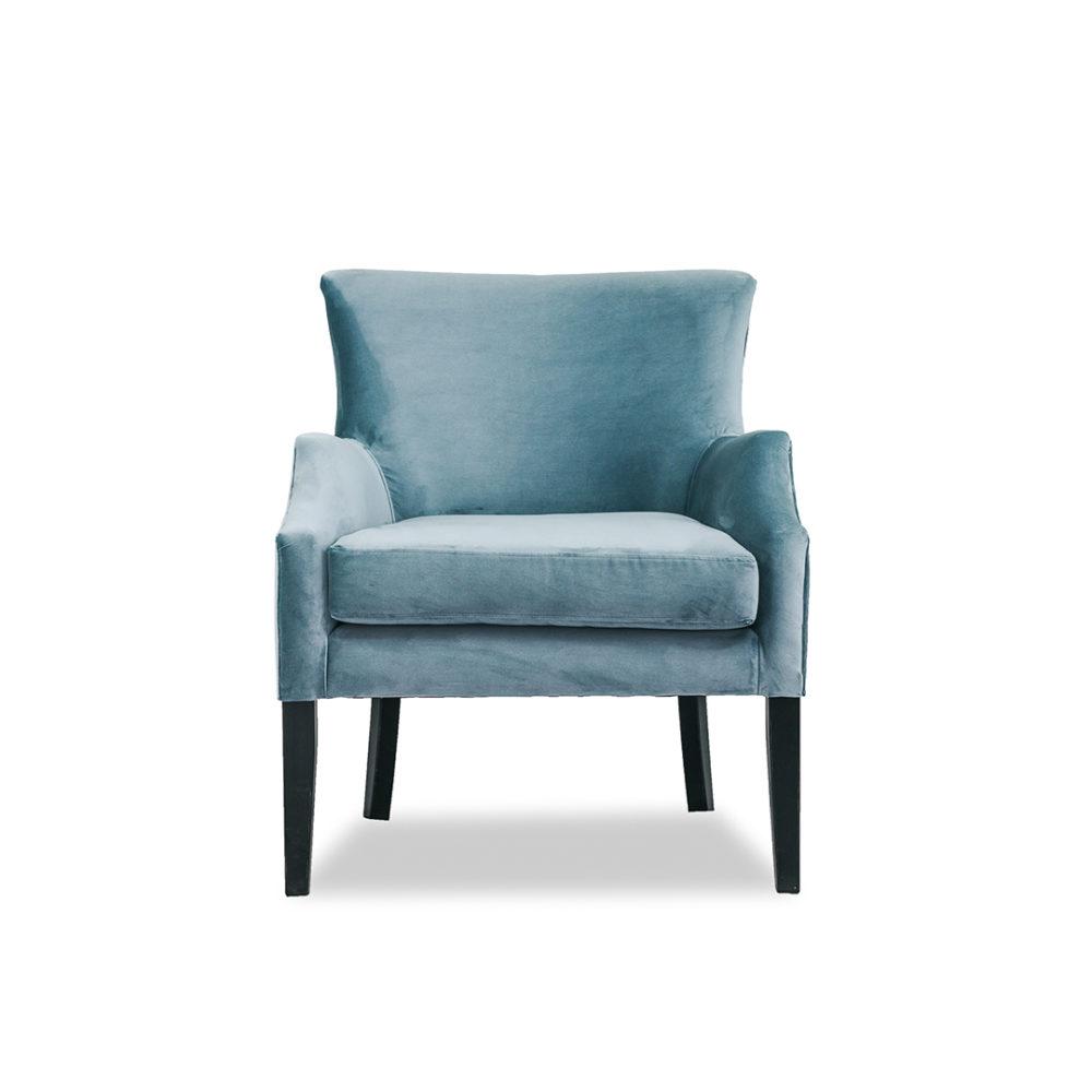 Chelsea Occasional Chair Upholstered Custom Designer Fabric 1