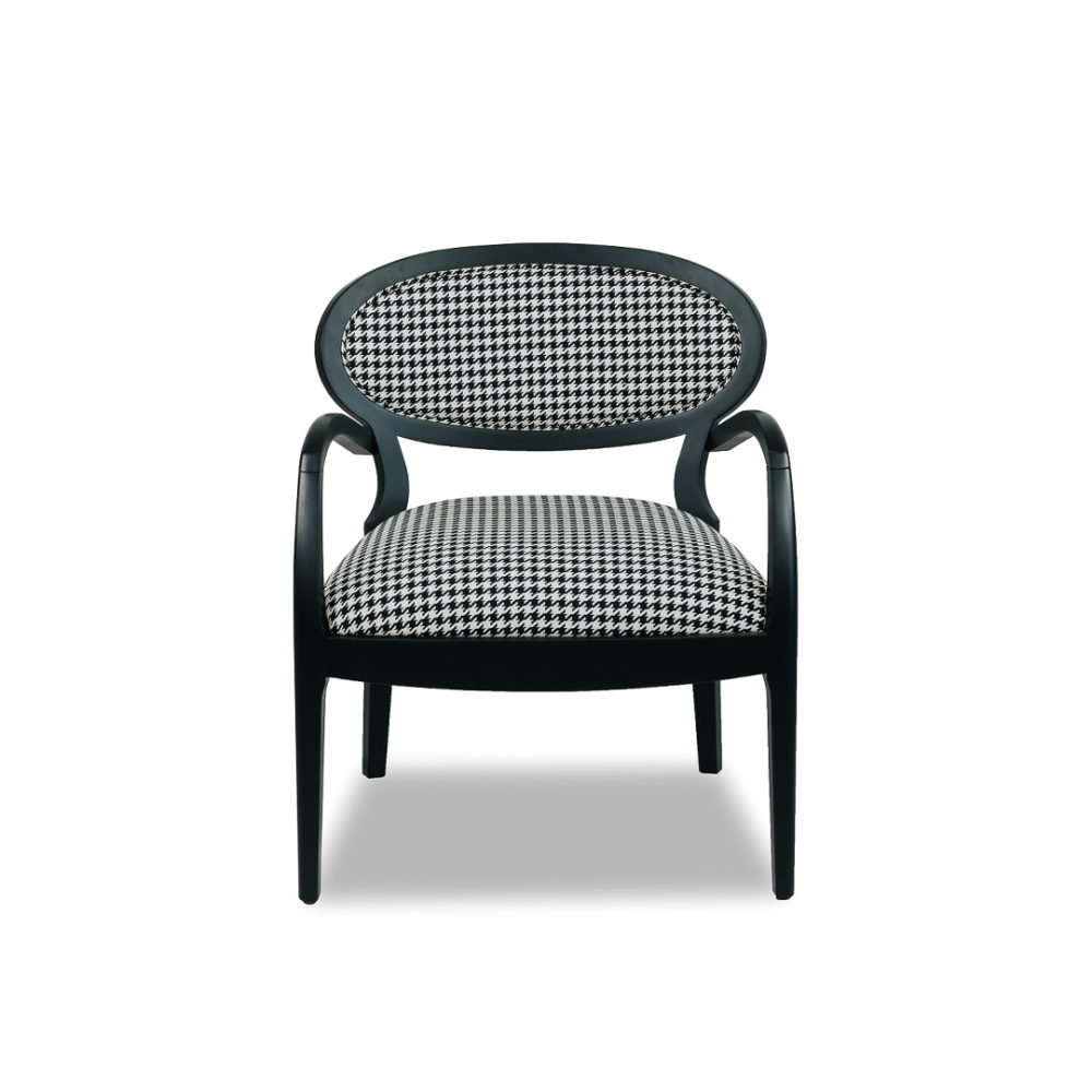 Claire Occasional Dining Chair Custom Upholstered Designer Fabric 1