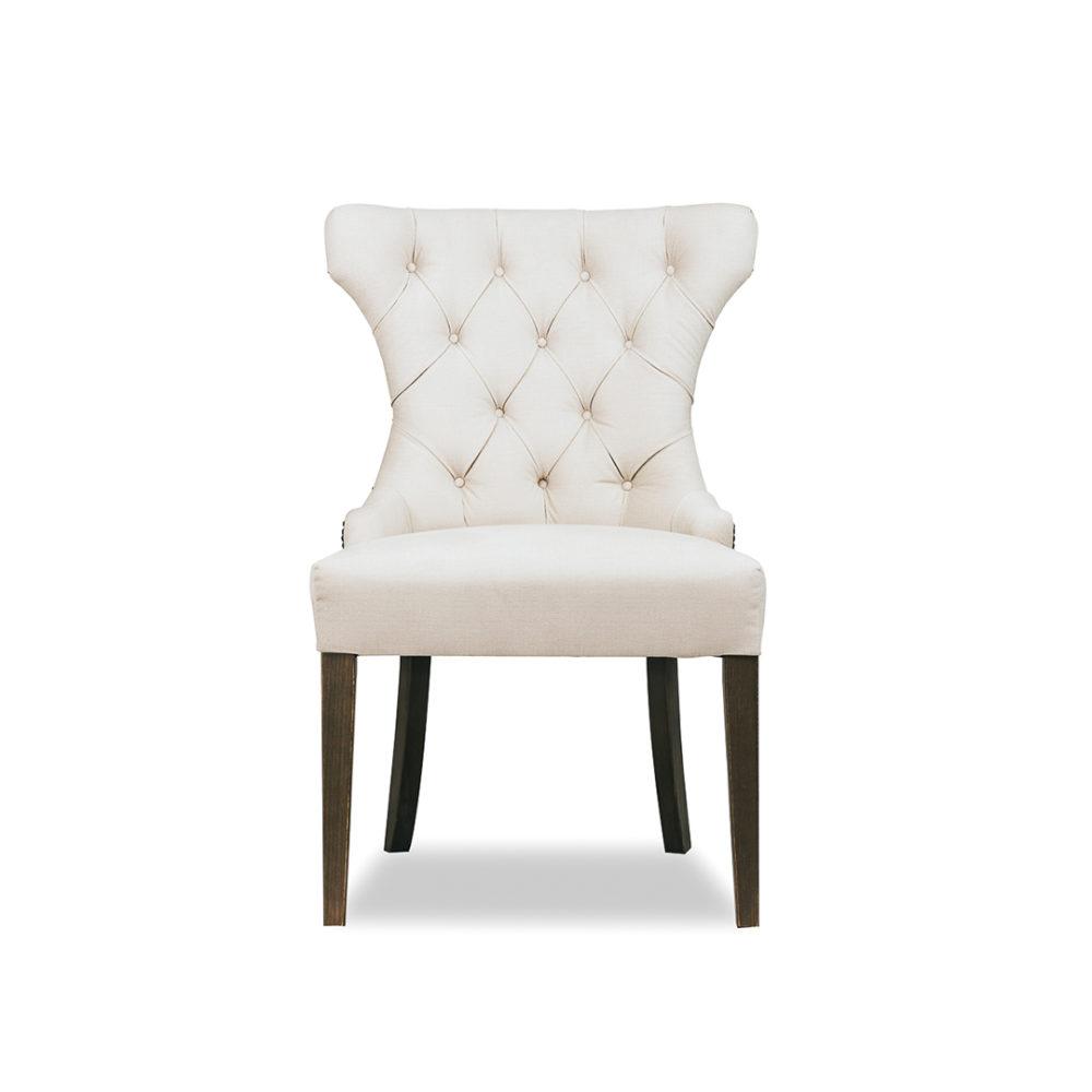 Florence Dining Chair Custom Upholstered Designer Fabric 1