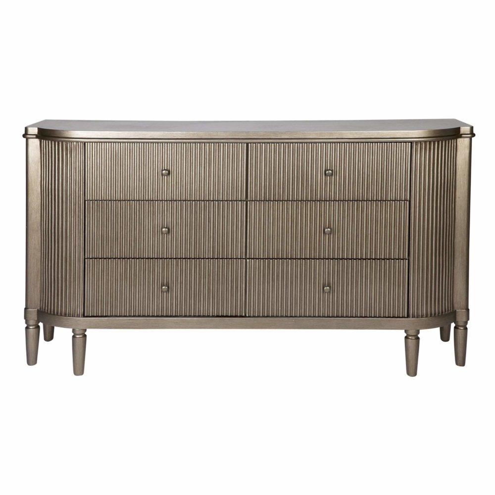 Ariana Chest Drawer Storage Living dining Bedroom - Gold 1