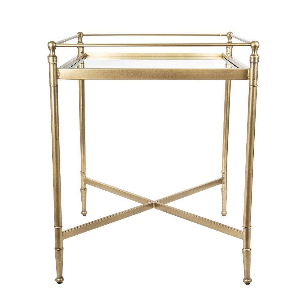Cara Square Brass Side Table 1