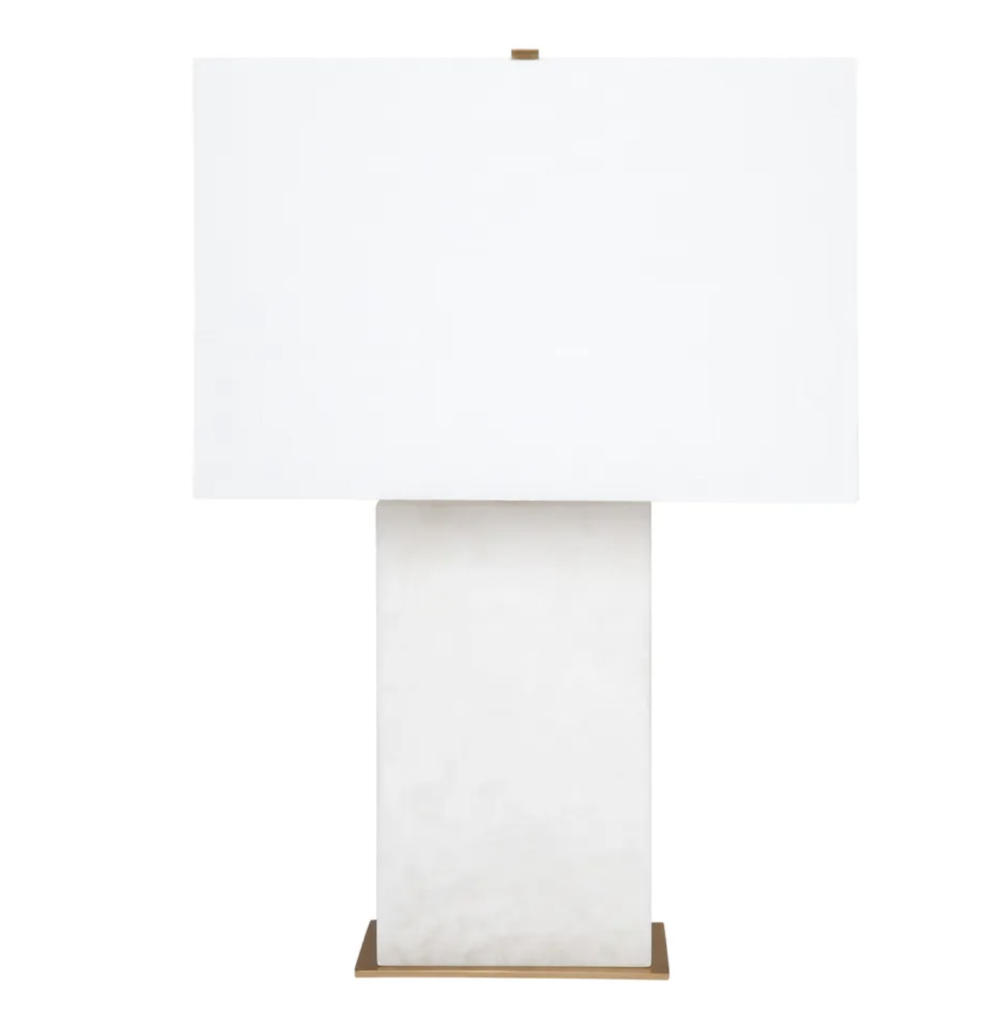 Dominic White Marble Table Lamp 1
