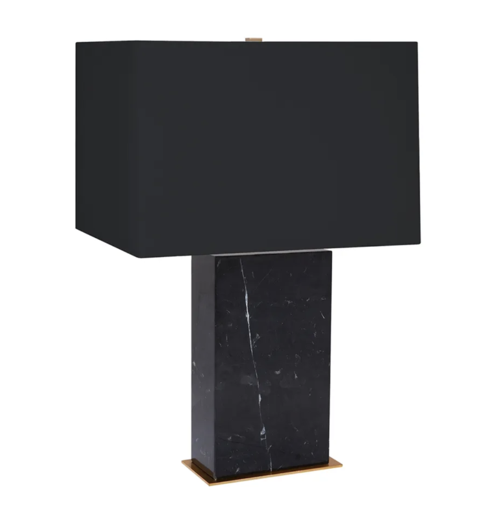 Dominic Black Marble Table Lamp 1