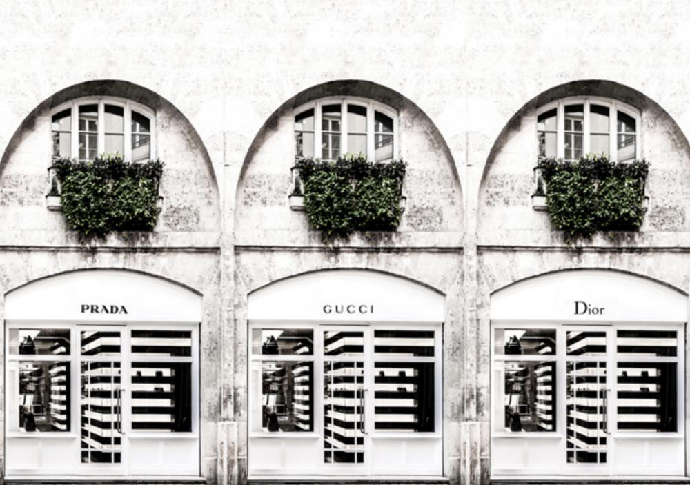 Designer Stores Gucci Dior Prada Artwork Picture 1